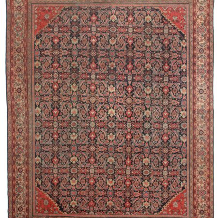 10 x 13 Antique Persian Mahal Rug 13836