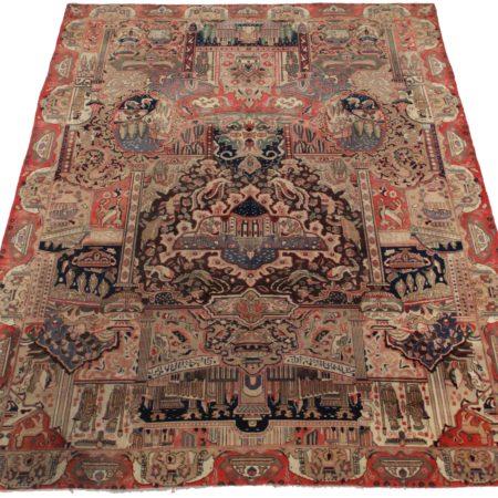 10 x 13 Vintage Persian Kashan Wool Rug 12083