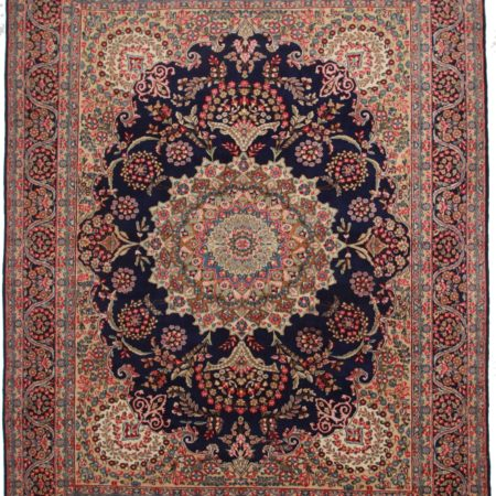 10 x 13 Vintage Persian Kerman Wool Rug 9793