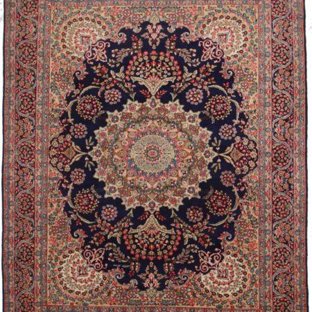 10 x 13 Vintage Persian Kerman Wool Rug 9793