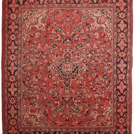 10 x 13 Vintage Persian Mahal Rug 11033