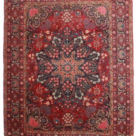 10 x 14 Antique Persian Yazd Rug 11940