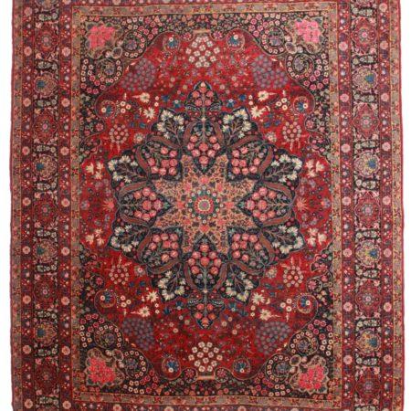 10 x 14 Antique Persian Yazd Rug 11940