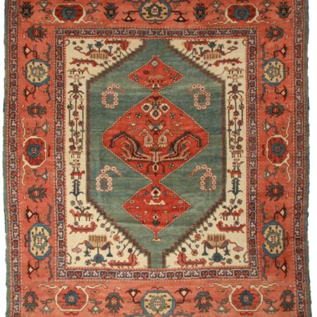 13 x 15 Persian Karajeh Wool Rug 10640
