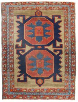 14344 Antique Russian Rug