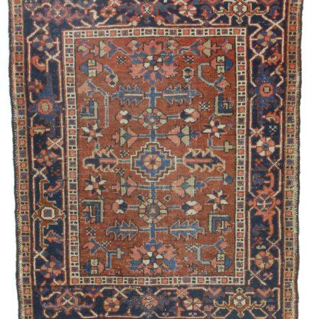 3 x 5 Antique Persian Karajeh Wool Rug 14278