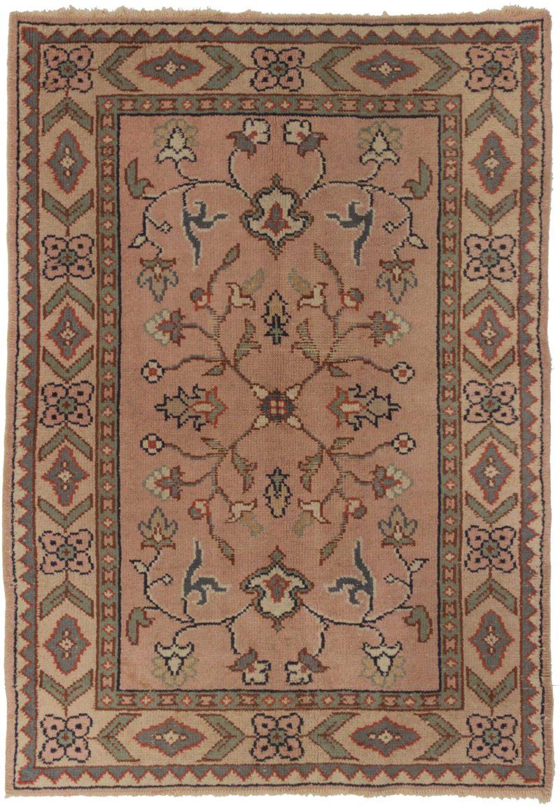4 x 6 Antique Turkish Oushak Rug 14307