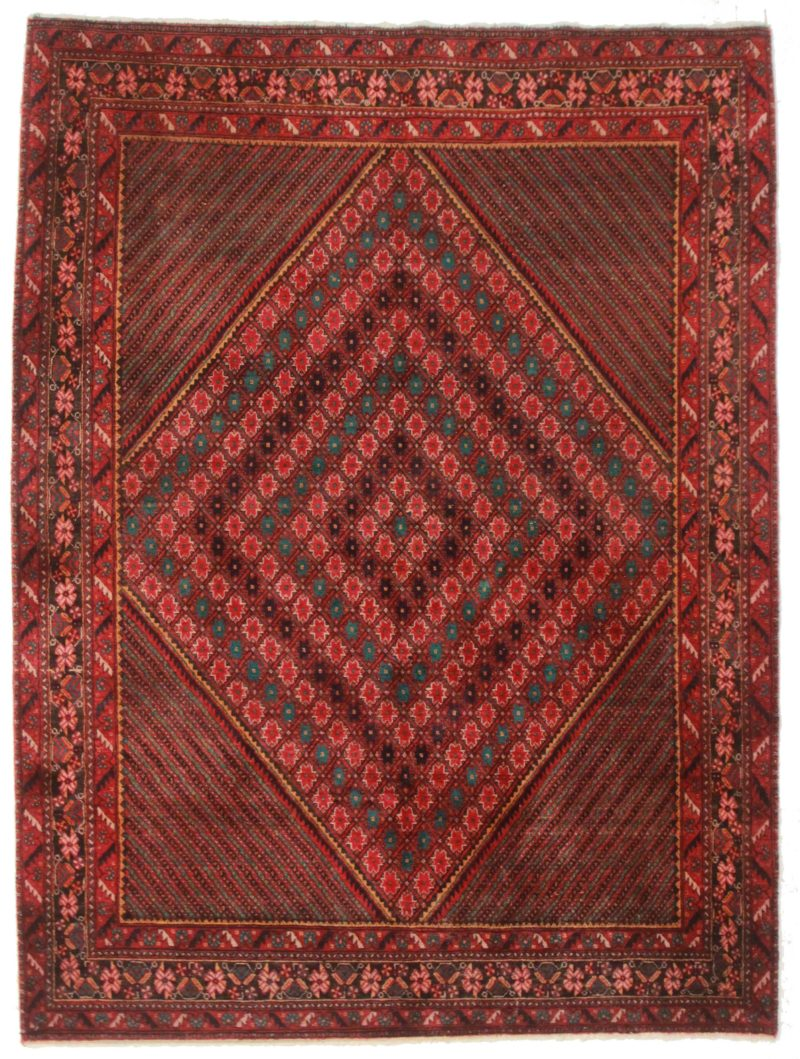 5 x 7 Persian Afshar Wool Rug 14326