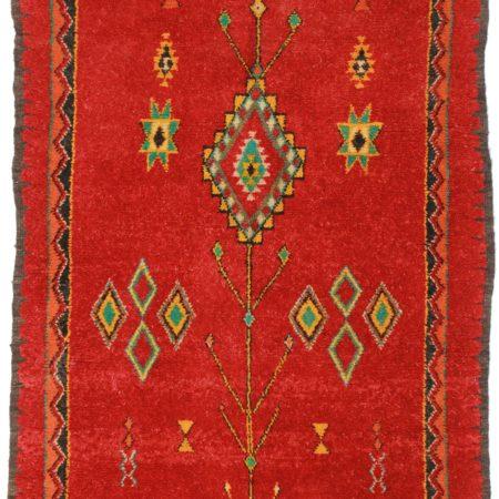 5 x 8 Vintage Moroccan Wool Rug 14336