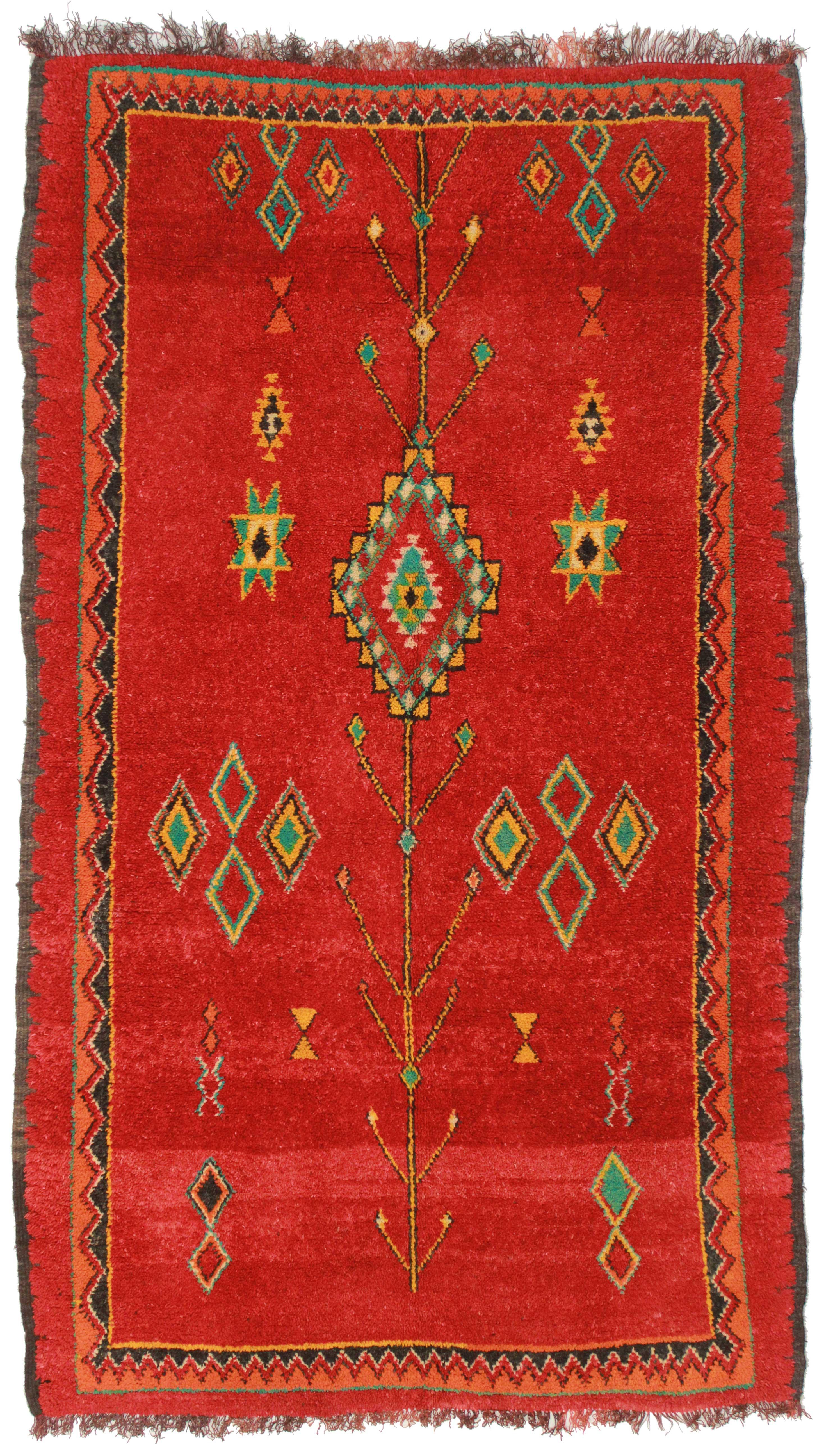 5 X 8 Vintage Moroccan Wool Rug 14336 Exclusive Oriental Rugs