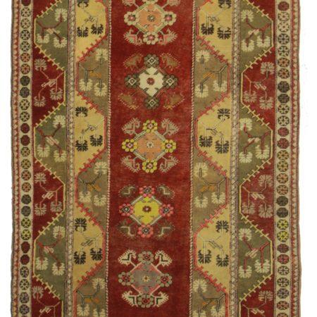 5 x 9 Vintage Turkish Wool Rug 14366