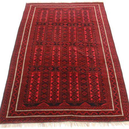 7 x 11 Vintage Turkmen Afghan Wool Rug 9283