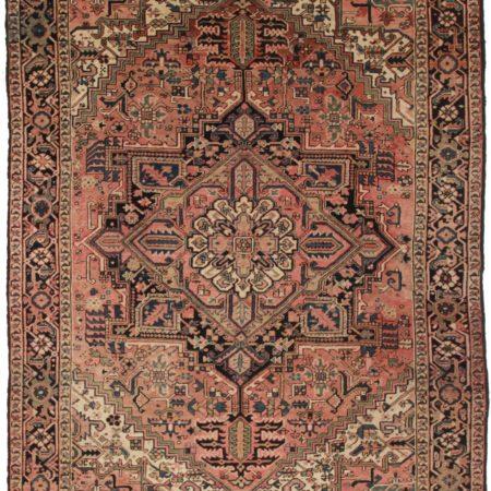 8 x 10 Vintage Persian Heriz Wool Rug 11036