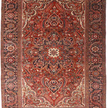 8 x 11 Vintage Persian Heriz Rug 12093