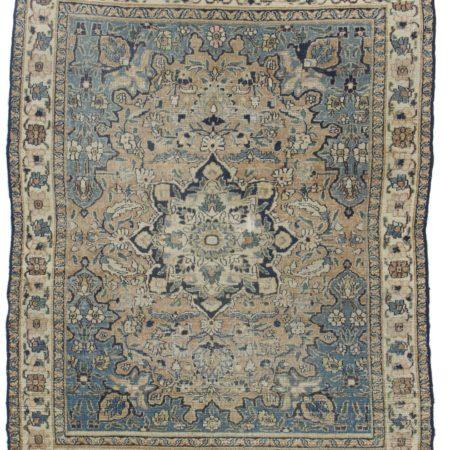Antique Persian Mashad Wool Rug 12143