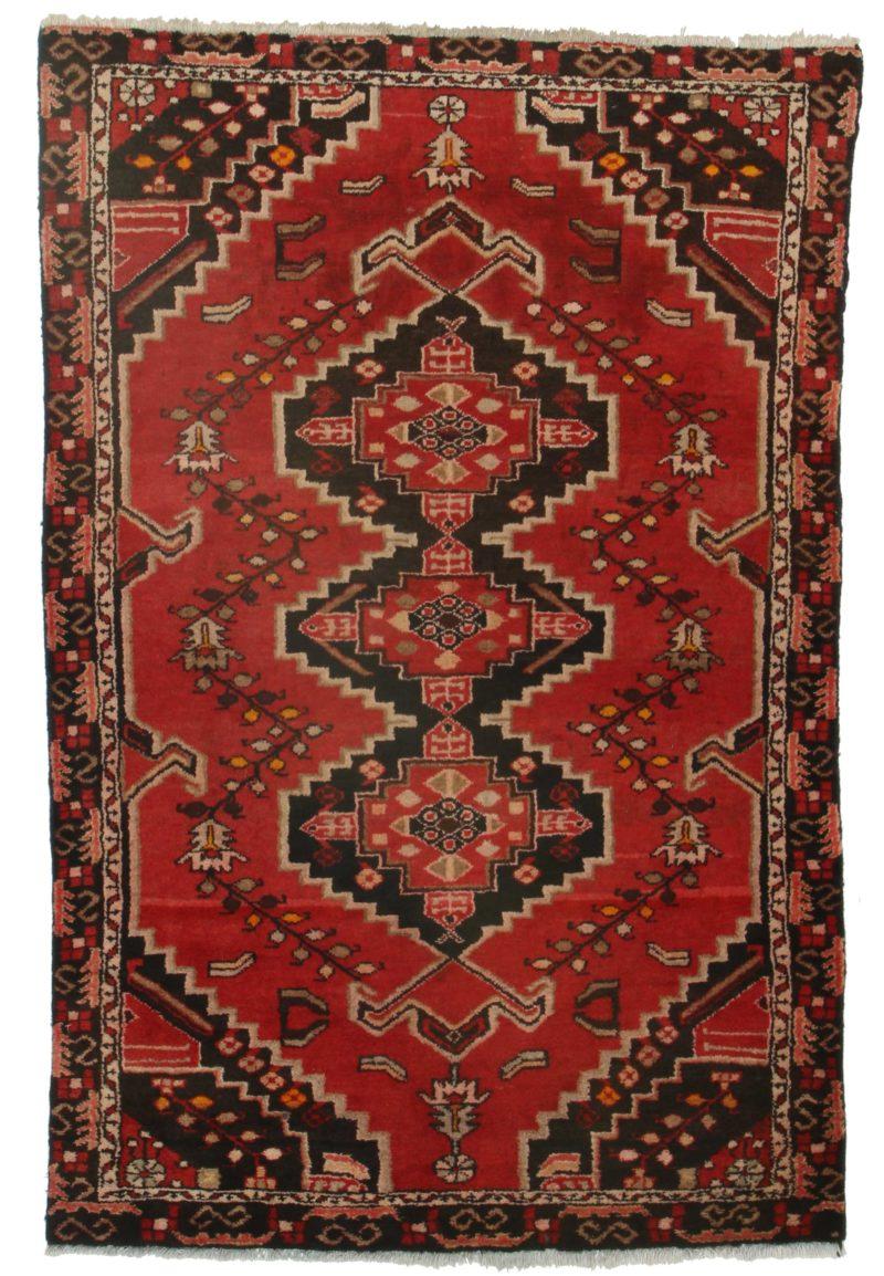 4 x 7 Vintage Persian Hamedan Rug 9856