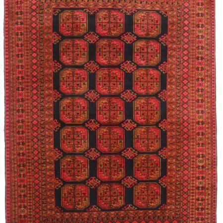 7 x 9 Vintage Turkmen Wool Rug 9297