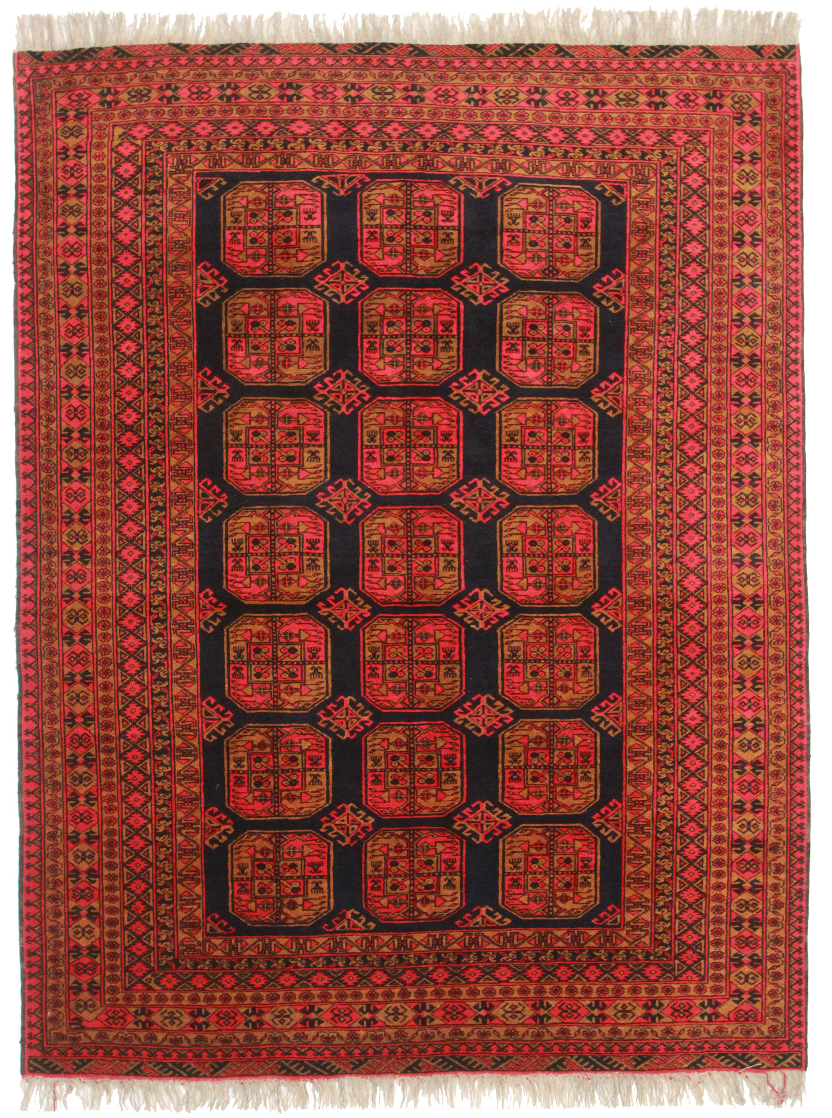 7 X 9 Vintage Turkmen Wool Rug 9297 Exclusive Oriental Rugs