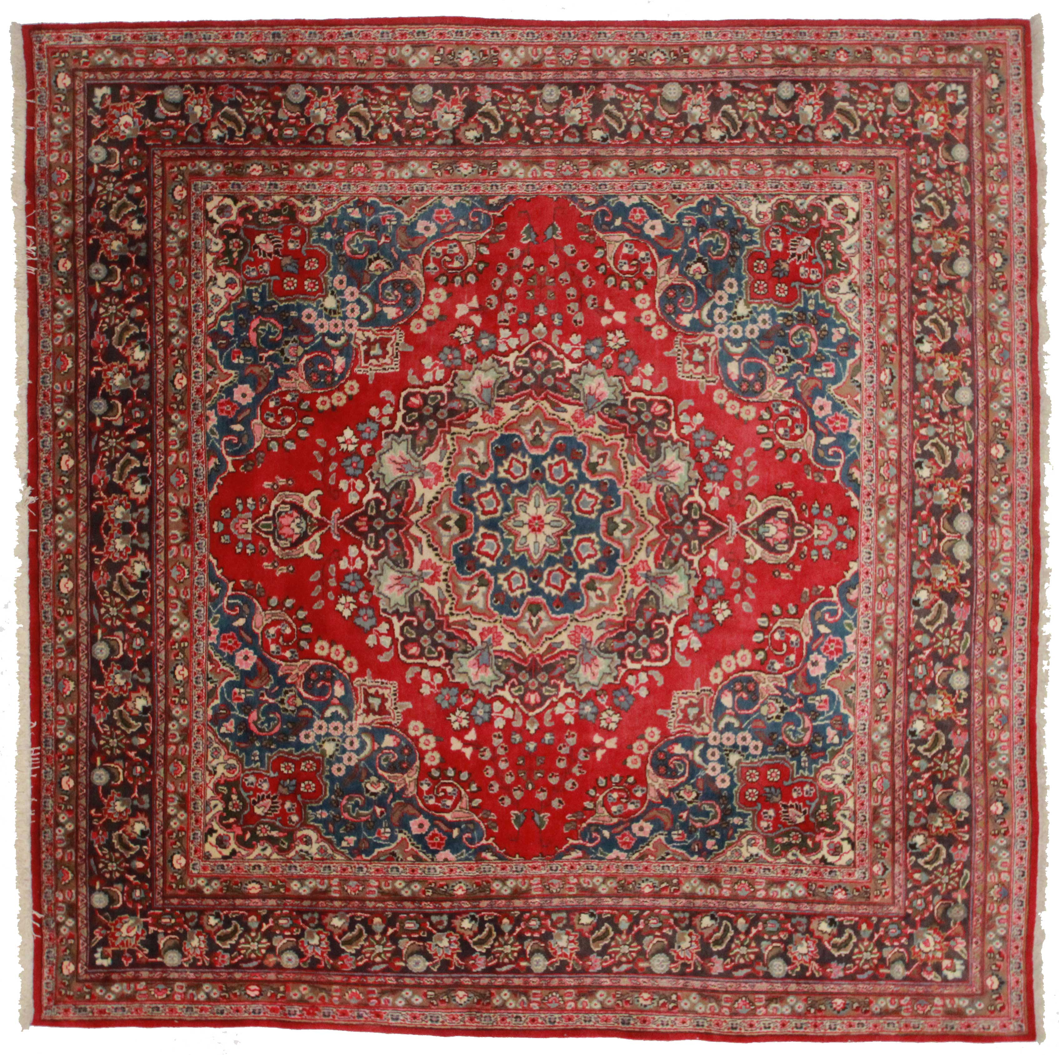 10x10 Square New Oushak Oriental Wool Area Rug: Square Rugs For Sale