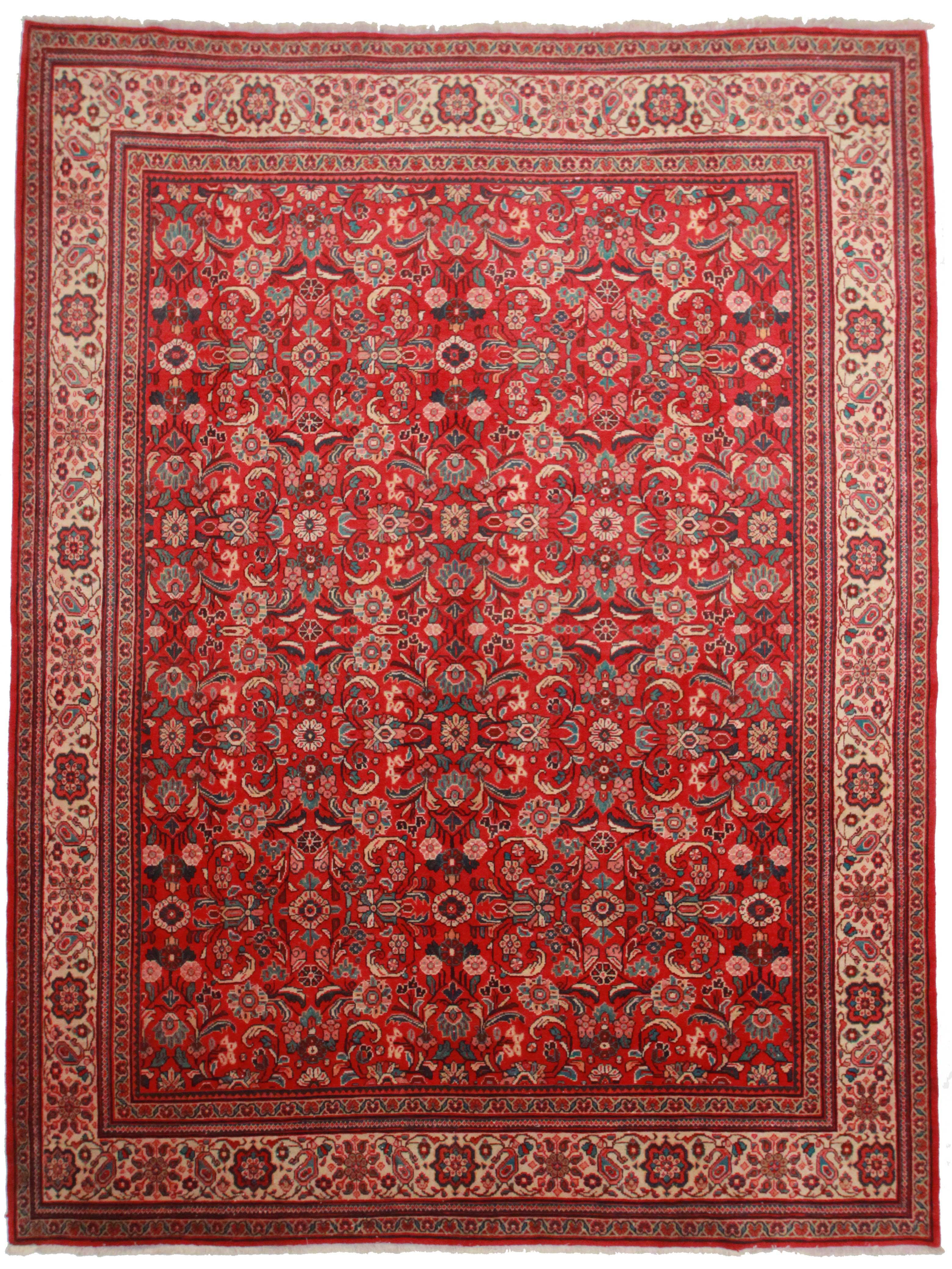 10 X 13 Vintage Persian Mahal Rug 10176 Exclusive