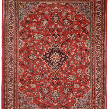 10 x 13 Vintage Persian Mahal Rug 12141