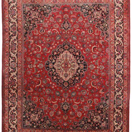 10 x 13 Vintage Persian Mashad Rug 11861