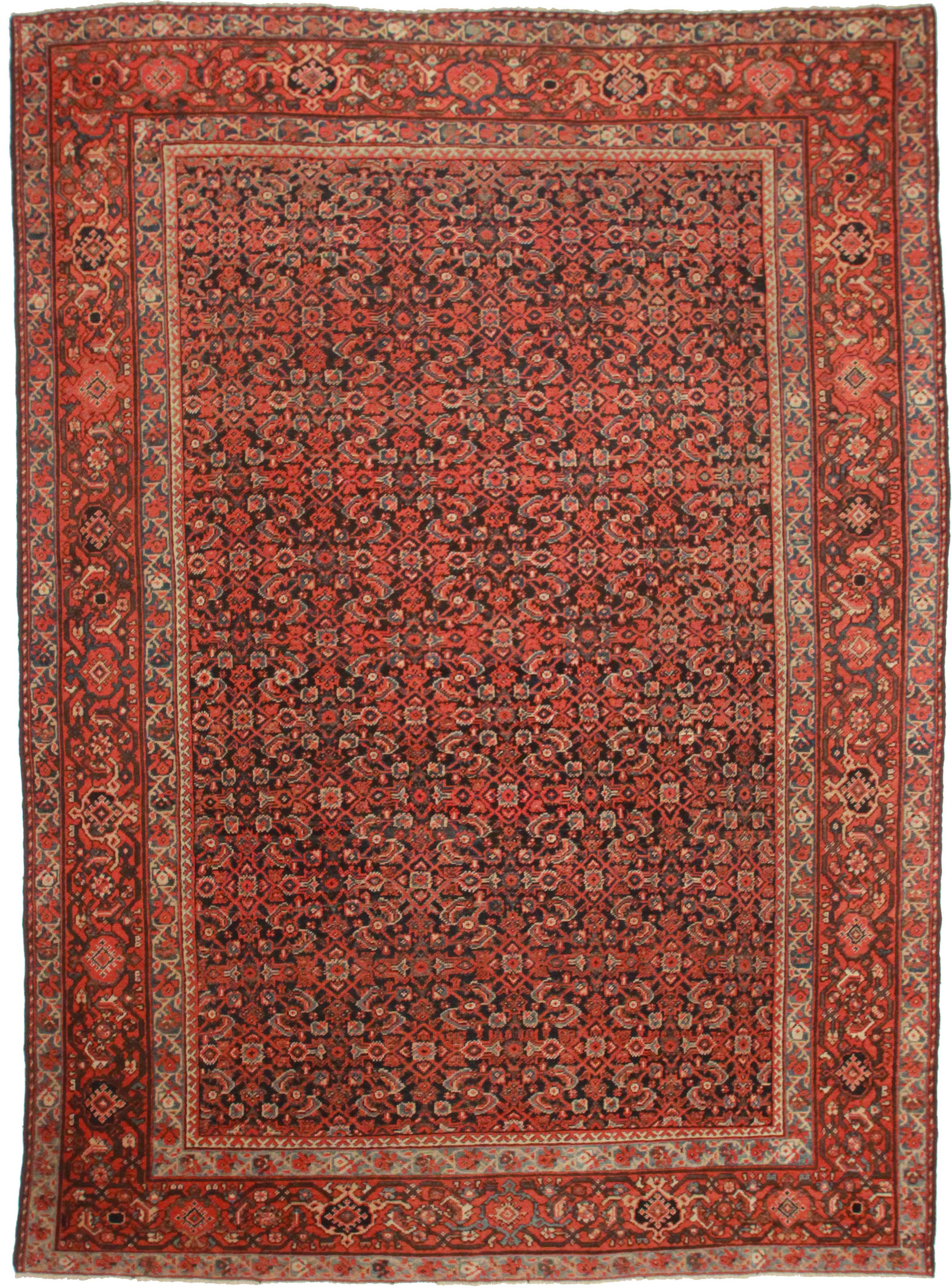 10 X 14 Antique Persian Mahal Rug 9510 Exclusive Oriental Rugs