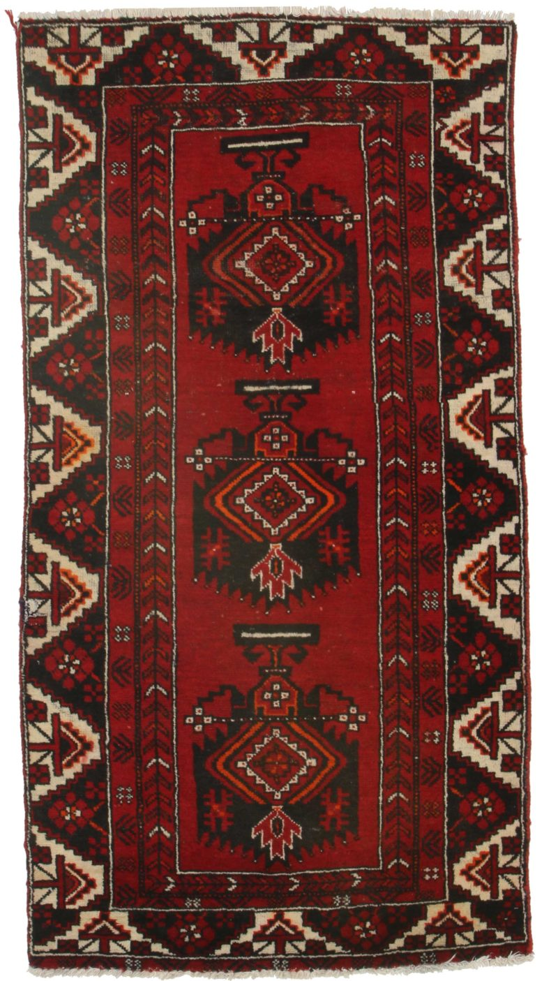 3 x 7 Vintage Persian Hamedan Rug 9875