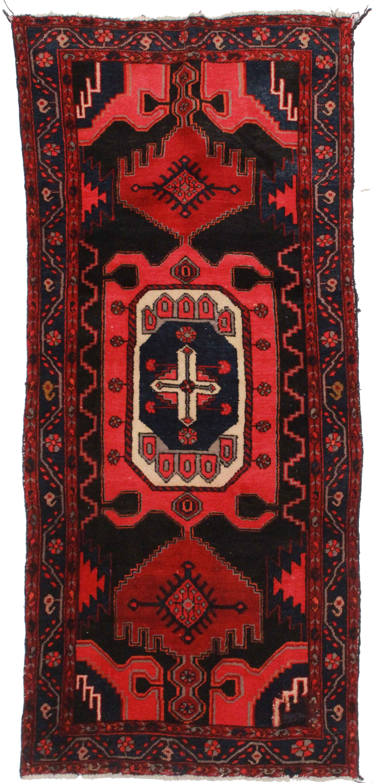3 X 8 Vintage Persian Hamedan Rug 9869
