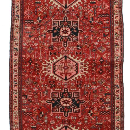 3 x 9 Antique Persian Heriz Runner 11819