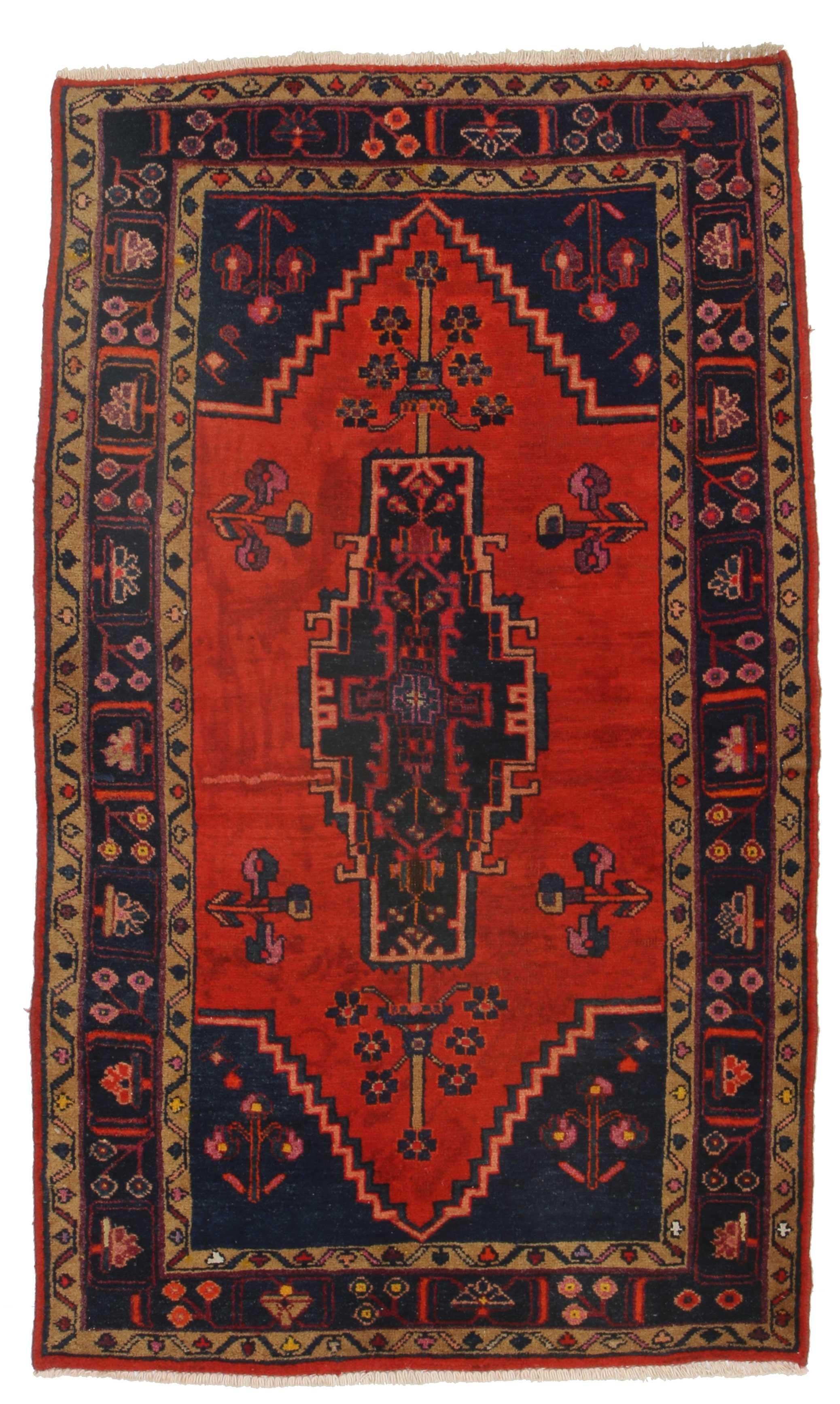 4 X 6 Vintage Persian Hamedan Rug 9848 Exclusive Oriental Rugs