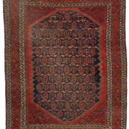 5 x 5 Antique Persian Malayer Rug 11059