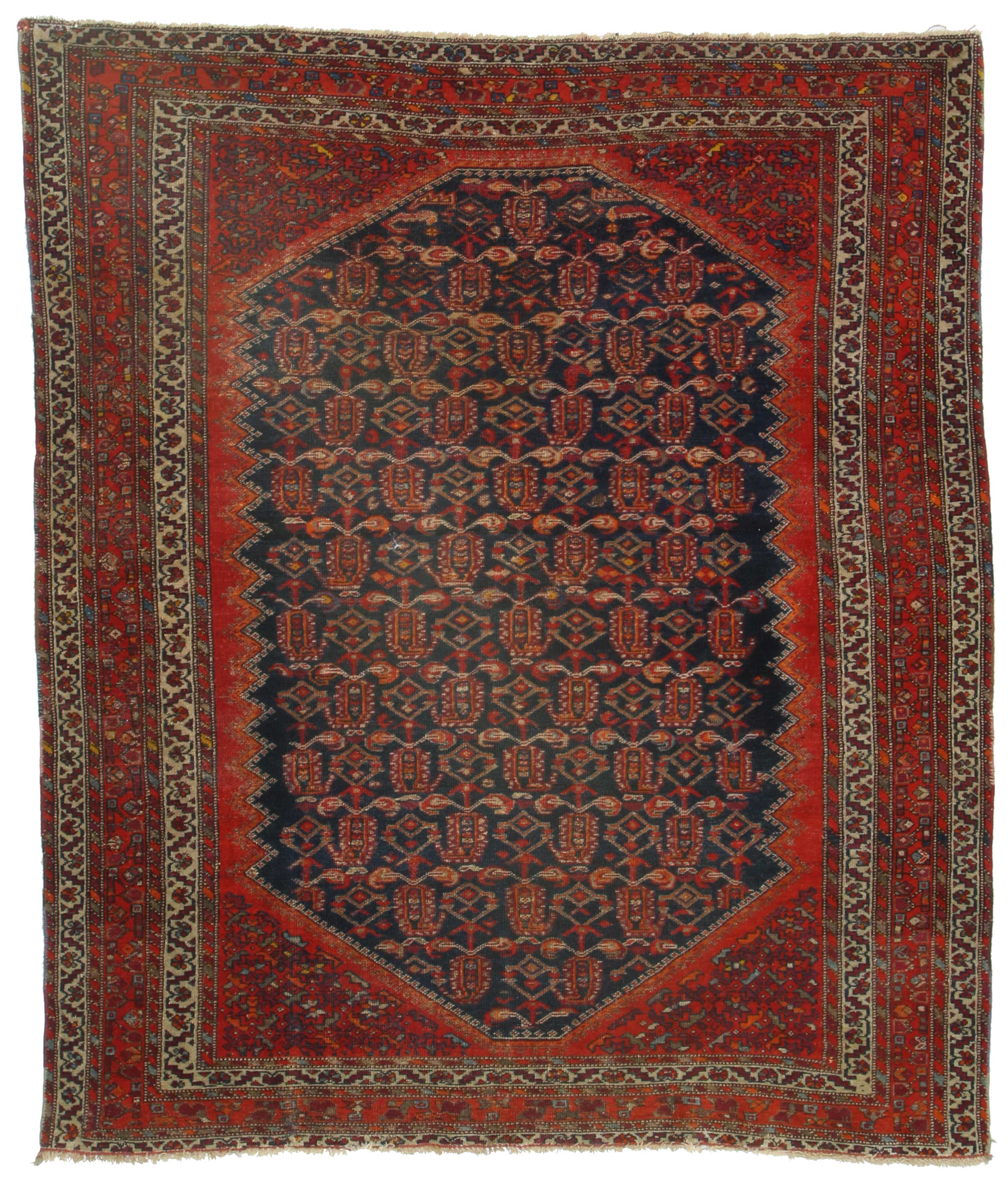 5 X 5 Antique Persian Malayer Rug 11059 Exclusive
