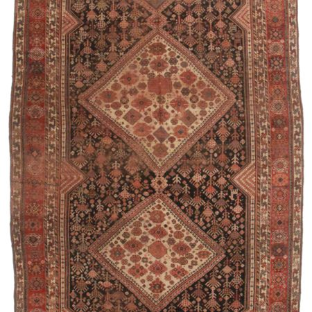 7 x 14 Antique Persian Shiraz Gallery Size Rug 10551
