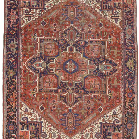 9 x 12 Antique Persian Heriz Rug 12105