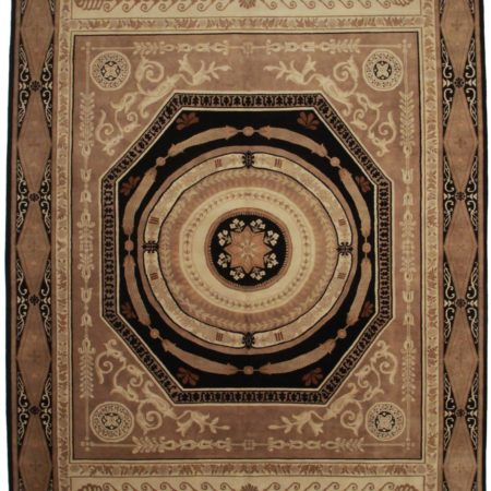 10 x 14 Aubusson Style Hand Knotted Wool Rug 13911