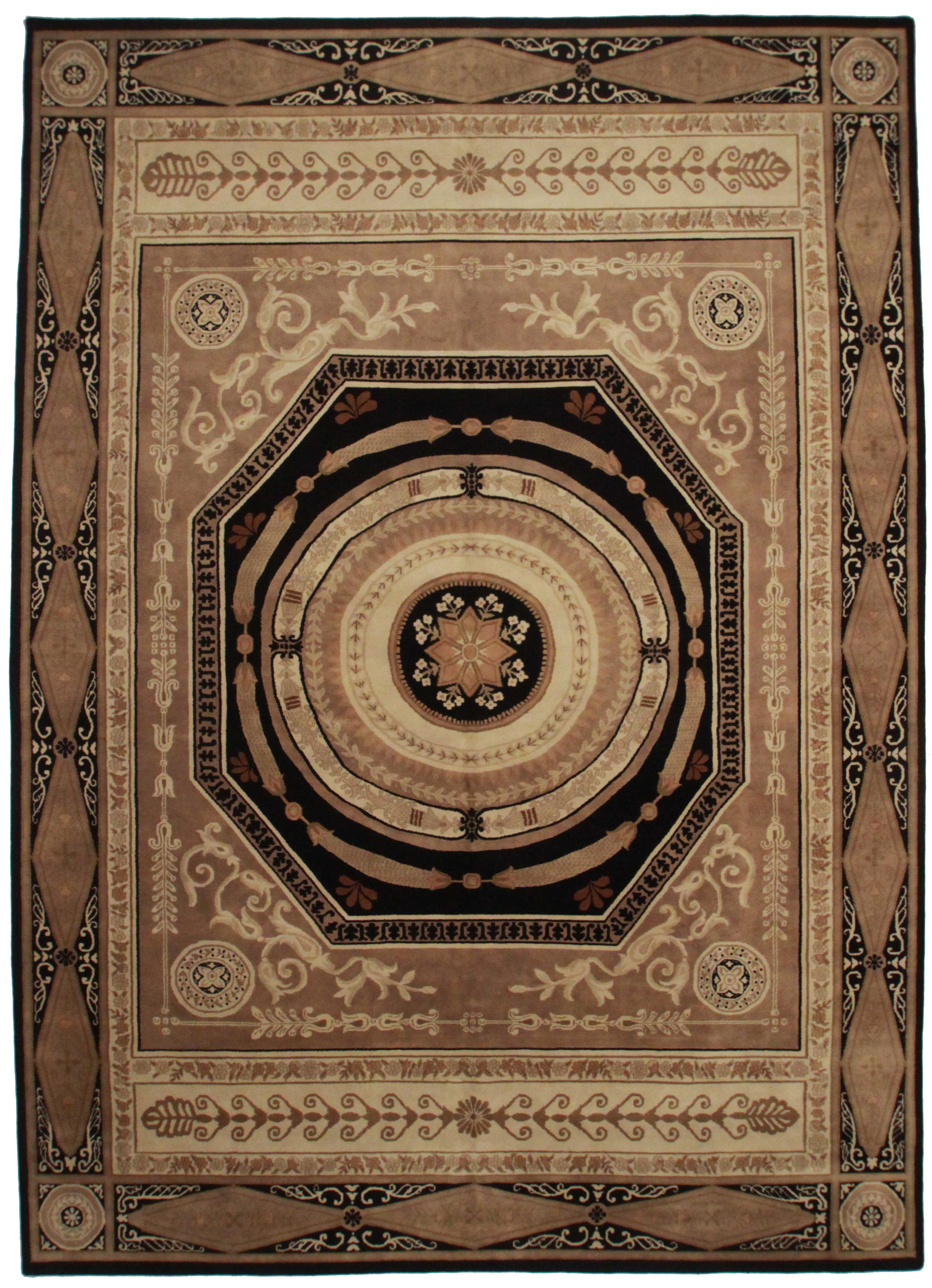 10 X 14 Aubusson Style Hand Knotted Wool Rug 13911 Exclusive