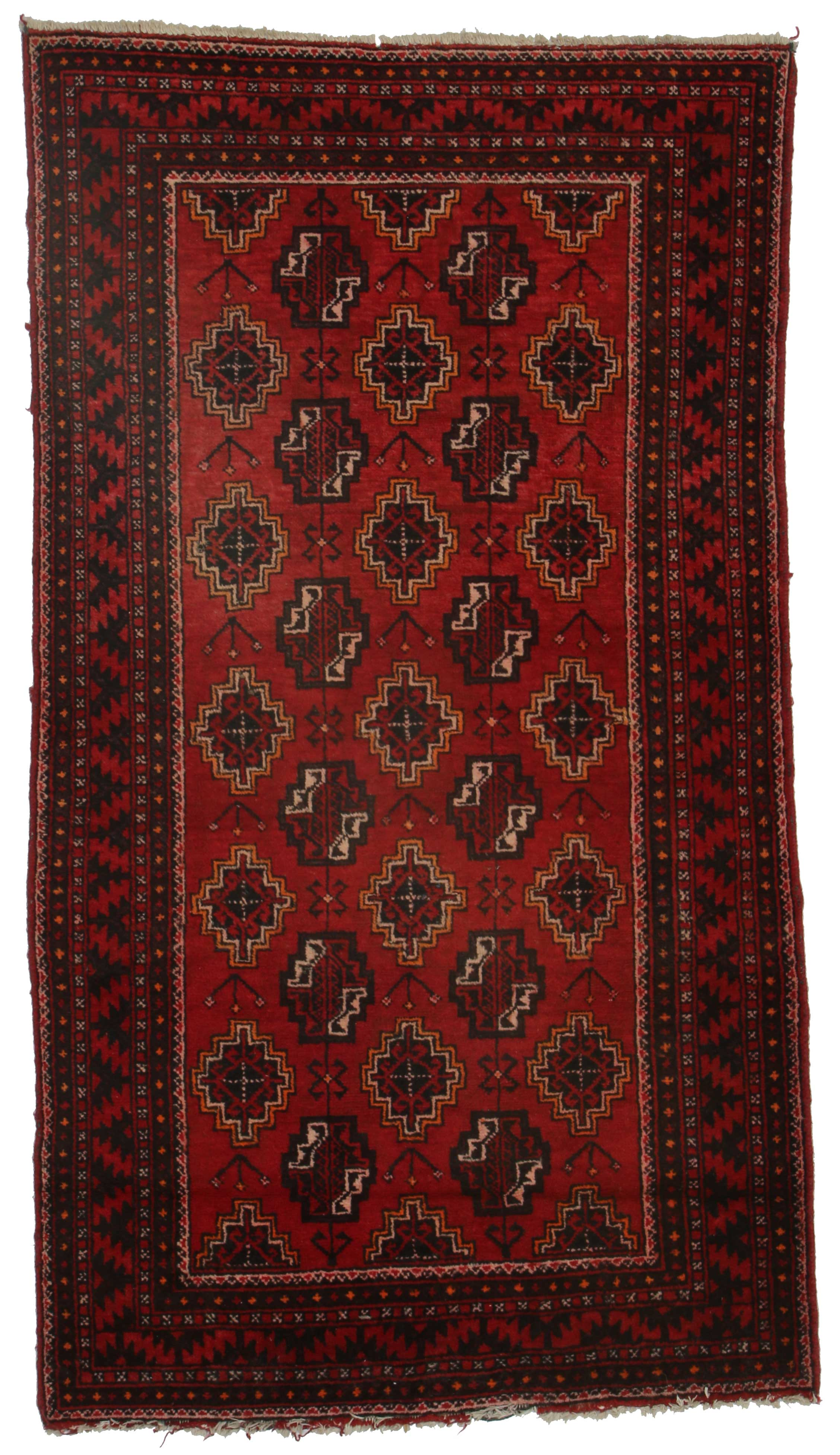 4 x 7 antique persian hamadan rug