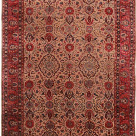 9 x 13 Antique Indian Agra Rug 12240