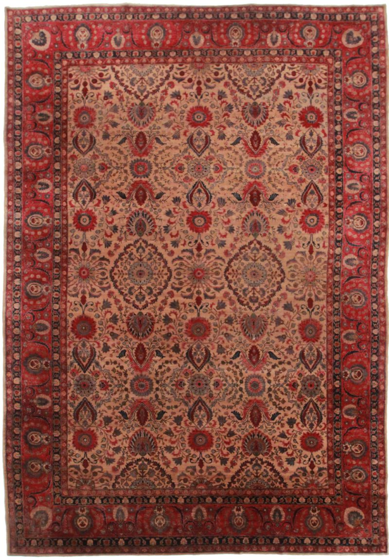 9 x 13 Antique Indian Agra Rug 12240
