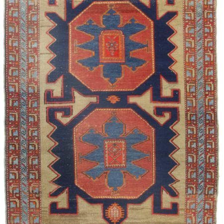 4 x 6 Antique Russian Wool Rug 14344