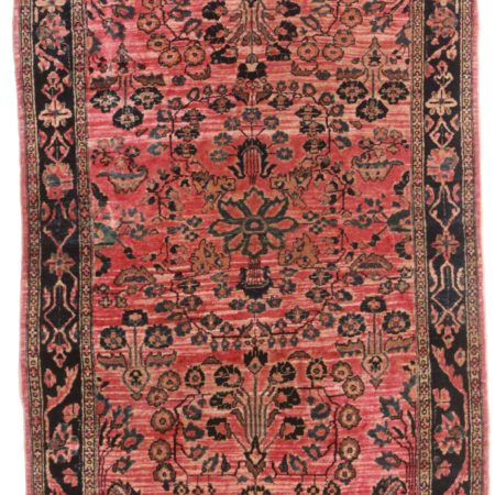 3 x 5 Antique Wool Persian Sarouk Rug 14125