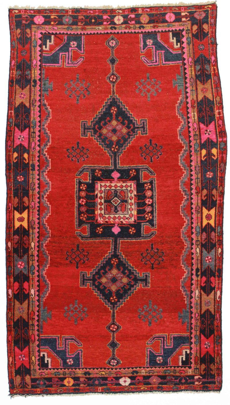 5 x 8 Antique Persian Hamadan Rug 9879