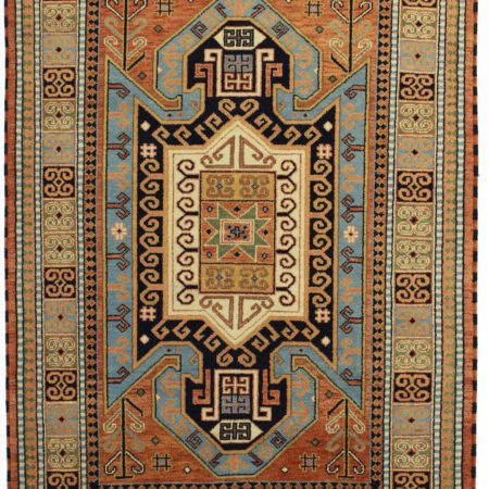 6 x 8 Vintage Transitional Wool Rug 13174
