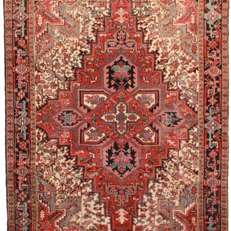 7 x 9 Vintage Persian Heriz Rug 4356