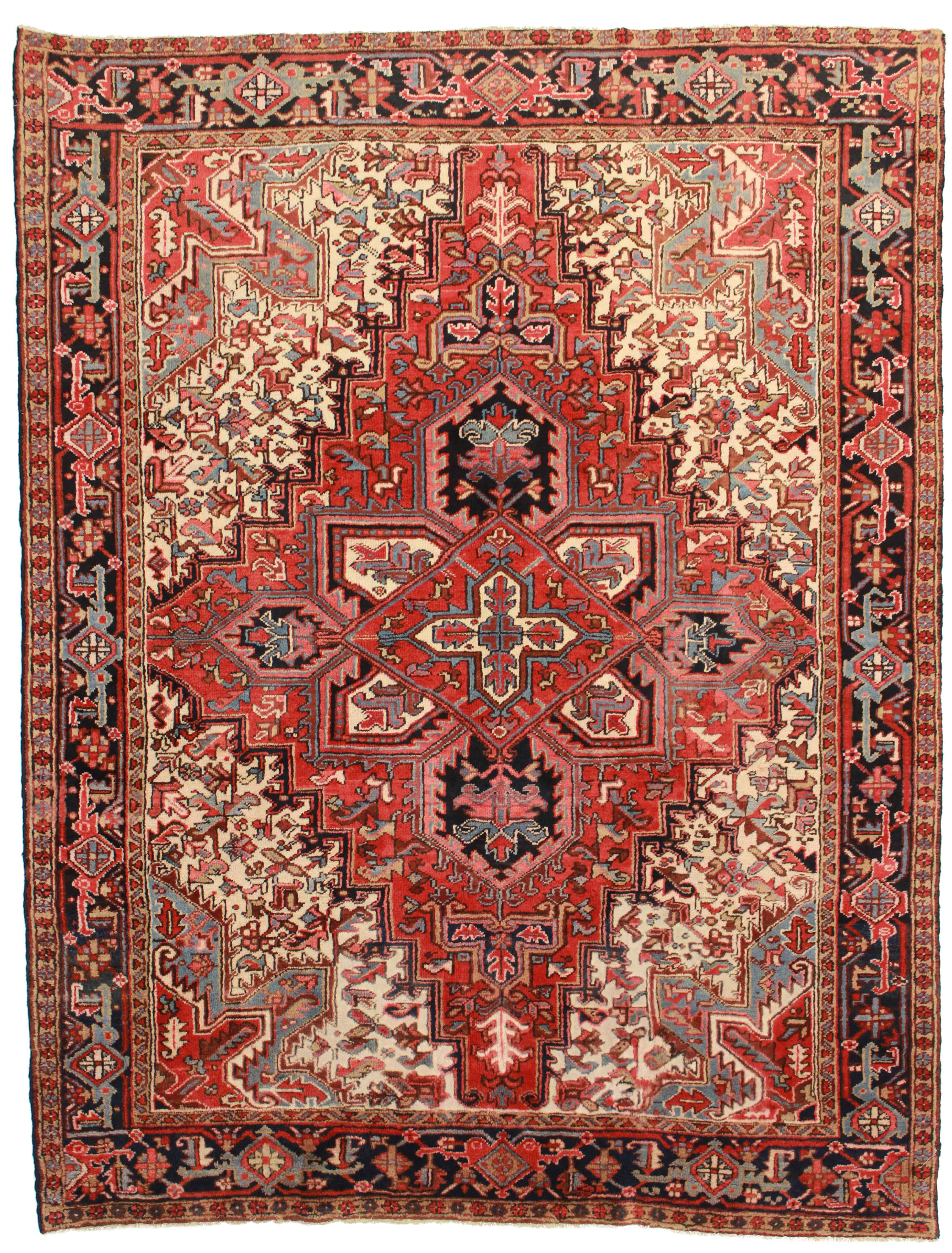 7 x 9 vintage persian heriz rug 4356 exclusive oriental rugs for What size area rug for a 12x12 room