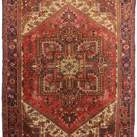 7 x 9 Vintage Persian Heriz Wool Rug 11771