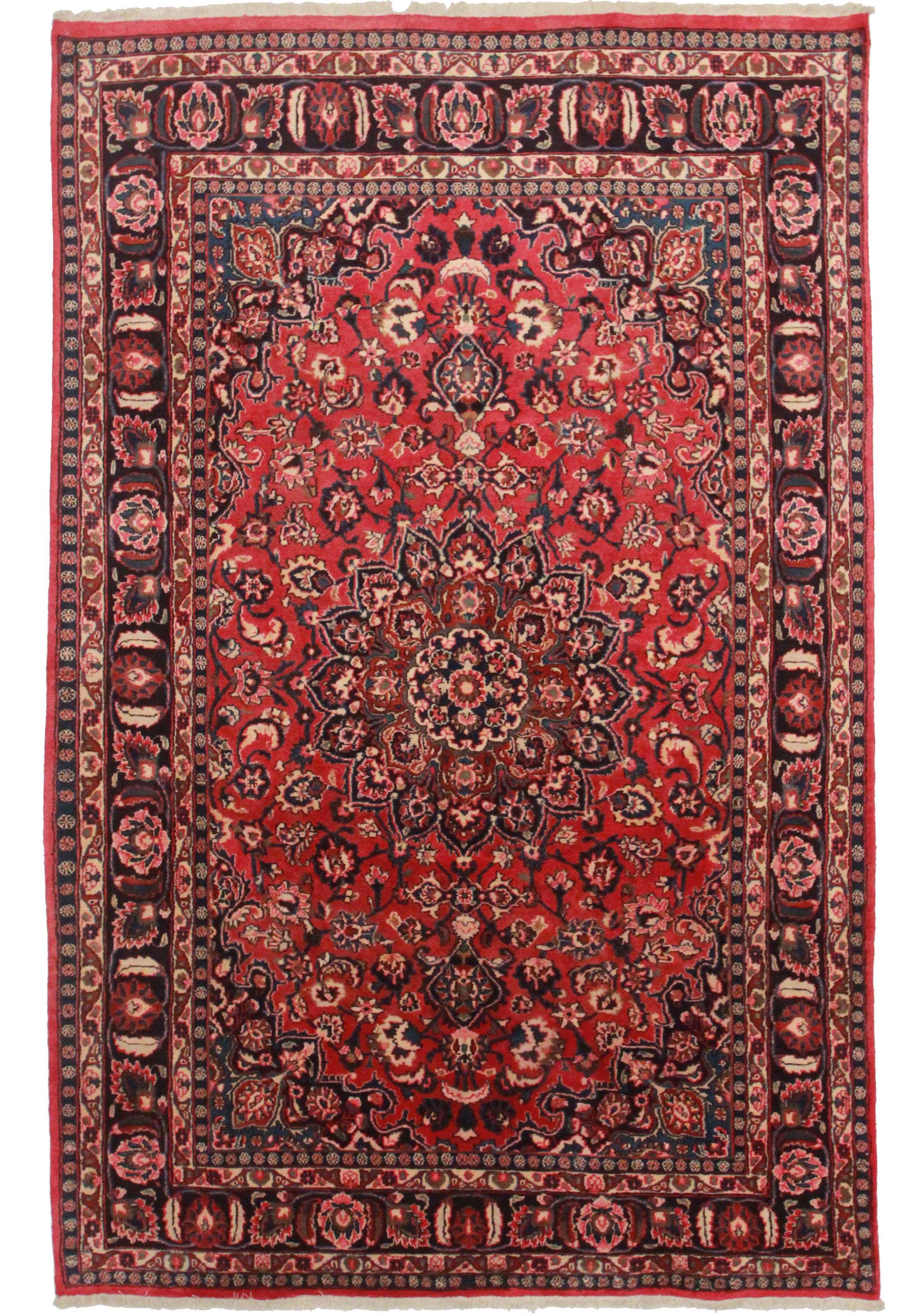 6 X 10 Antique Persian Mashad Rug 12111 Exclusive