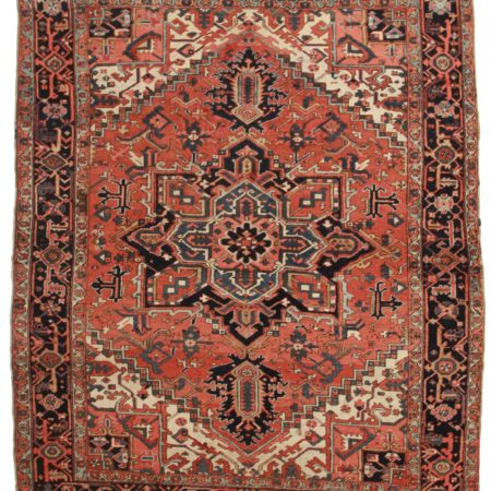 8 x 10 Antique Persian Heriz Rug 9441