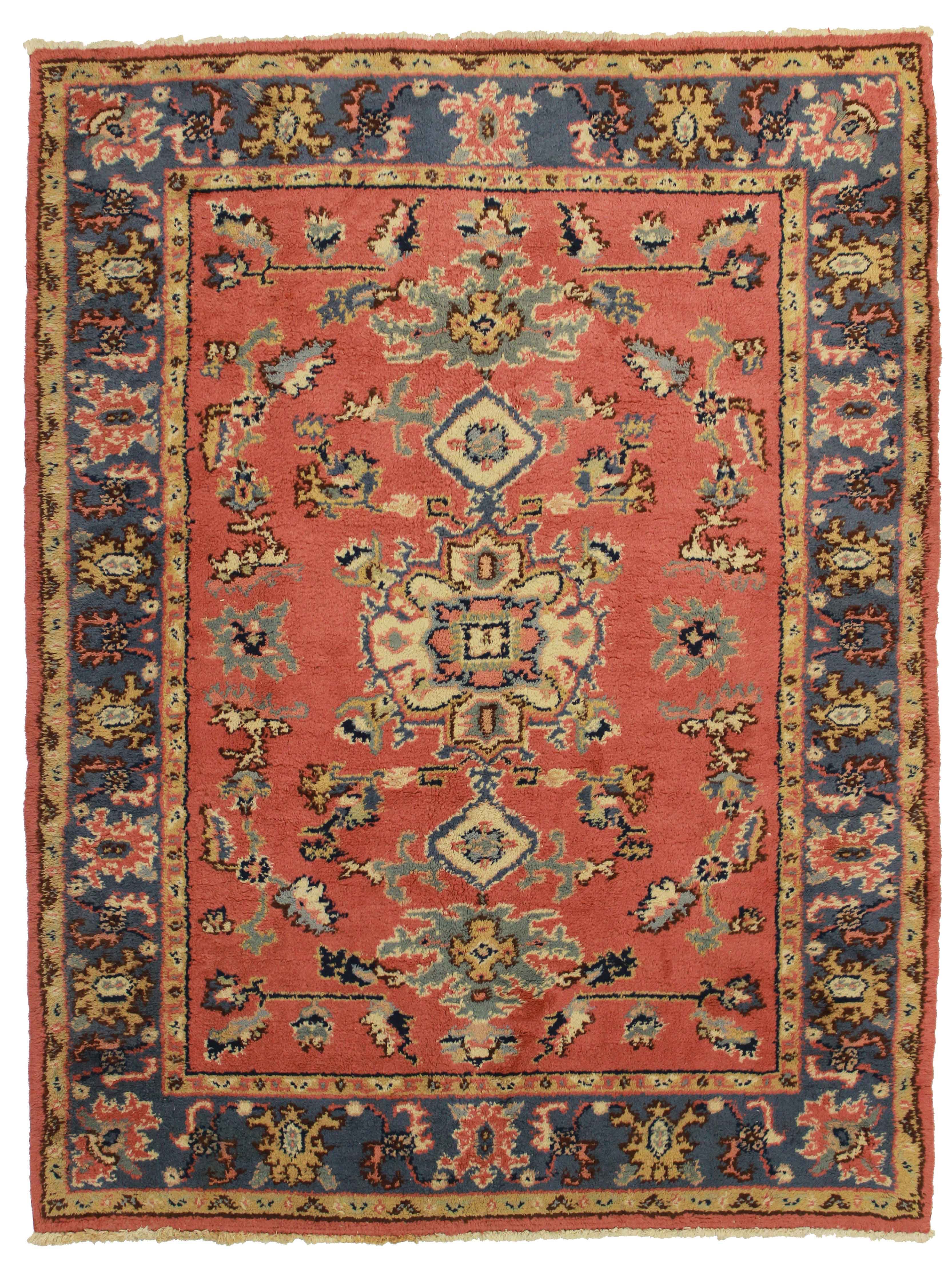 6 x 7 Hand Knotted Wool Turkish Oushak